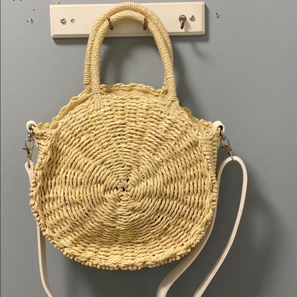 Crossbody Straw Bag